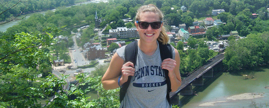 Samantha Sarsfield ('15), 2014 and 2015 Richards Center intern at Harpers Ferry