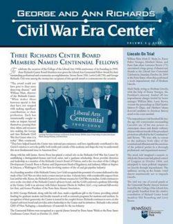 Civil War Era Center newsletter